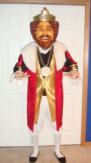 Burger King The King Costume with RARE Limited Edition Mask