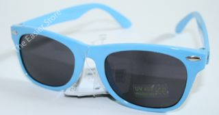 Kids Sunglasses Retro 80s Wayfarer UV400 Safe Sun Glasses Boys Girls