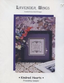 Kindred Hearts Lavender Wings Cross Stitch Pattern