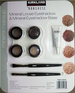 Kirkland Signature Borghese Mineral Loose Eyeshadow & Mineral Base Set
