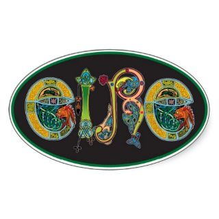 Eire Oval Euro Sticker