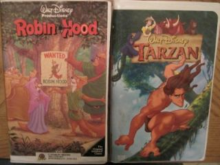 VHS Video All Disney Jungle Robin Oliver Lion Hercules Rescuers