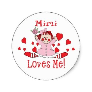 Mimi Loves me Rag Doll Sticker