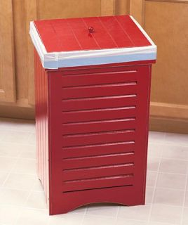 Wooden Kitchen Garbage Can Trash Bin Available in 3 Finishes Nice