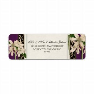 Baroque Vintage Lily Gold Formal Matching Address Return Address