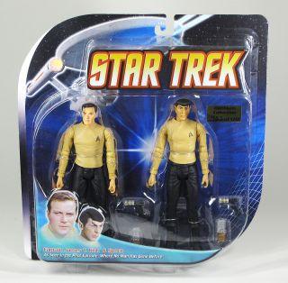 Star Trek TOS Pilot Kirk Spock Figure Set 2 Pack New
