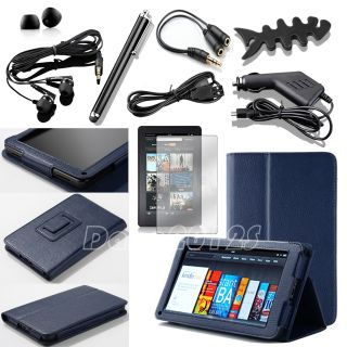For  Kindle Fire 1 2 7 PU Leather Folio Stand Case Cover