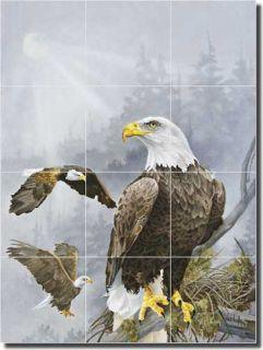Forget Eagles Birds Art Kitchen Ceramic Tile Mural Backsplash 18x24