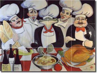 Harrison Chefs Kitchen Art Ceramic Tile Mural Backsplash 17 x 12 75