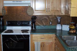 Faux Tin Kitchen Backsplash Roll WC20 Copper for Seamless Installation