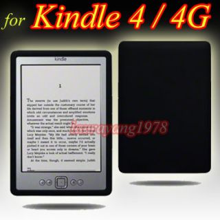 Black Silicone Skin Case Cover Fr  Kindle 4 4G Wi Fi 6 E Ink