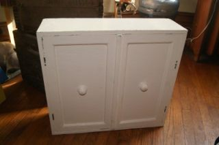 Antique Shabby Country Bathroom Kitchen Small Cabinet Cupboard