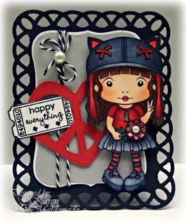 Kitty Kat Marci La La Land Crafts Mounted Cling Rubber Stamp Stamping