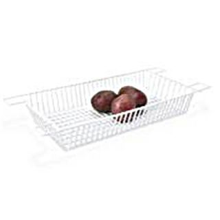 Over Kitchen Sink Rinse Basket or Drying Rack White