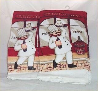PC Fat Chef Kitchen Towels Bistro Kitchen Decor Set 6