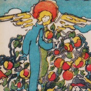 Exrare Jessie King 1st Glasgow School Apple Tree 1923 Art Nouveau Deco