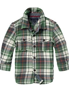 Tommy Hilfiger Toddler boy`s check shirt. Green