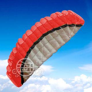 5M Kite 2 Line Red Stunt Parafoil Power Sport Kite Outdoor Toys Free