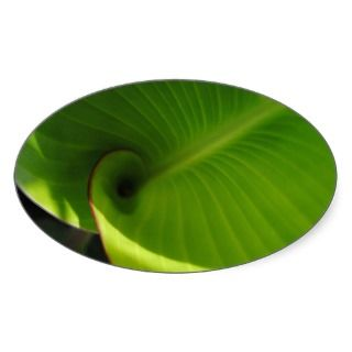 Green Leaf Swirl Stickers