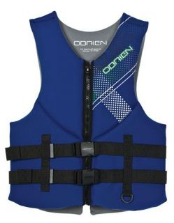 2012 OBrien Mens Flex Clutch Neoprene Vest Life Jacket Blue 3XL 52