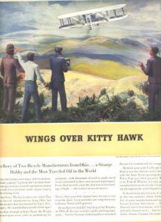 Wings Over Kitty Hawk Magazine Ad 1930s Socony Oil