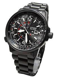 New Citizen Eco Drive Nighthawk Pilot 200M Mens Watch BJ7019 54E FedEx