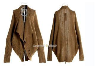 New Fashion Womens Batwing Cape Poncho Knit Tops Ladies Cardigan