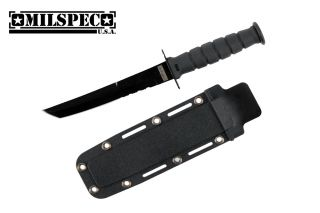 Marine Combat Knife Replica Letter Opener Serrated with Black