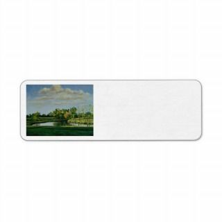 Farm Pond II Oil Landscape Painting Return Address Labels