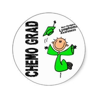 Non Hodgkins Lymphoma CHEMO GRAD 1 Sticker
