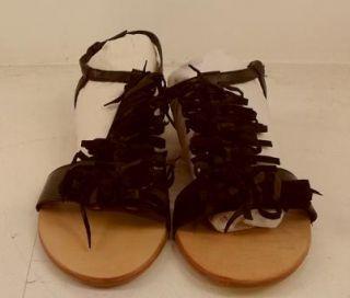 Klub Nico Womens Bows Wedge Sandal Black 10M $60 Value