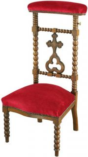 Antique French Prayer Chair Prie Dieu Kneeler Cross