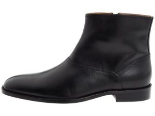 2012 Season Johnston Murphy Knowland Plain Toe Mens Black Ankle Boots