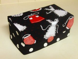 Tissue Box Cover Fabric Aprons Polka Dots Large Size