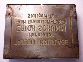 WW2 Esbit Kocher Military Heater Stove Metal Case