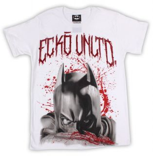 New Marc Ecko Batman Dark Knight Rises Blood Bath T Shirt Mens s s