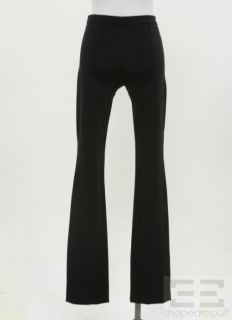 WOLFORD Black Seamed Stretch Knit Pants Size 34