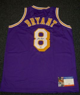 Kobe Bryant Autographed Los Angeles Lakers Jersey Purple Rookie Style