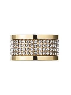 Dyrberg Kern EMILY Gold Crystal Ring Crystal
