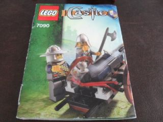 CASTLE LEGOS KNIGHTS CATAPULT DEFENSE 7091 & CROSSBOW ATTACK 7090 100%