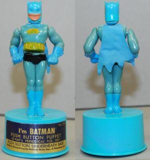 Batman 1969 Kohner Push Puppet 1966 RARE