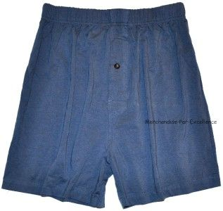 Pack Mens New Hathaway Knit Boxers Blue Gray M L XL