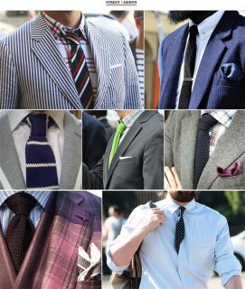 Mens Skinny Knit Tie Thin Slim Solid Striped Knitted Tie Necktie Red