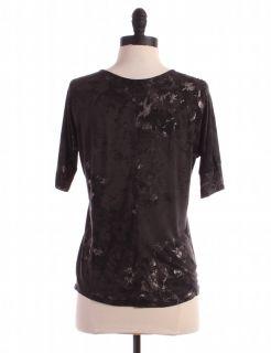 Gap Grey Print Knit Top Sz s Shirt