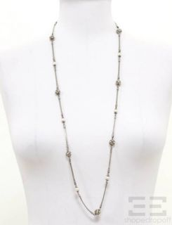 Konstantino Sterling Silver 18K Yellow Gold Pearl Necklace