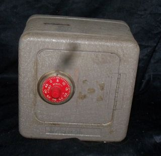 Superior Toy Mfg Co Metal Fort Knox Safe Bank Toy Alarm Works