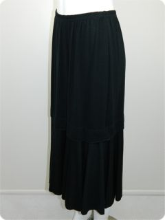 Kondo Tricot Australia Womens Black Merino Wool Skirt Sz 14 RRP$300