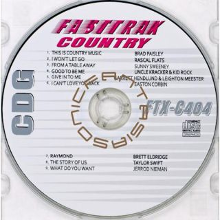 Country Music Karaoke CD Fast Trax FTX 404 CDG 2011 Artist Songs Paper