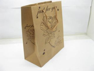 140 Assorted Kraft Paper Gift Shopping Bags 16x13 5cm