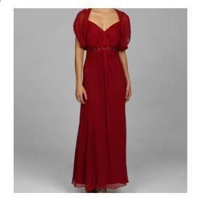 KM Collections Empire Waist Crinkle Chiffon Gown 12